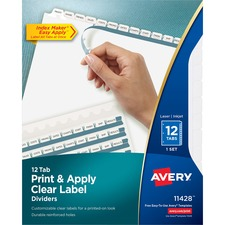 AVE 11428 Avery Index Maker Label Dividers w/Regular Tabs AVE11428