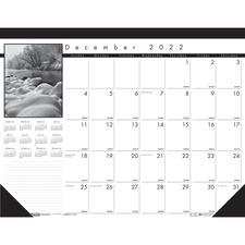 HOD 122 Doolittle Black and White Calendar Desk Pads HOD122