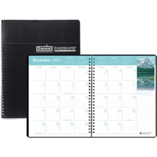 HOD 26402 Doolittle Earthscapes Wirebnd Color Mthly Planner HOD26402