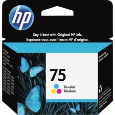 HP 75 Original Ink Cartridge - Single Pack - Inkjet - 210 Pages - Color - 1 Each