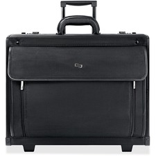 USL PV784 US Luggage Rolling Polyvinyl Laptop Catalog Case  USLPV784