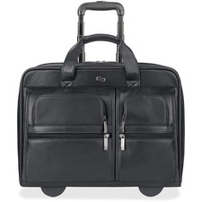 USL D9574 US Luggage Leather Laptop Rolling Case USLD9574