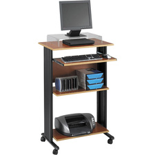"""Safco Muv Stand-up Workstation - Rectangle Top - 29.5"""" Table Top Width x 19.8"""" Table Top Depth x 0.8"""" Table Top Thickness - 45"""" Height x 29.5"""" Width x 22"""" Depth - Assembly Required - Cherry, Laminated, Melamine"""