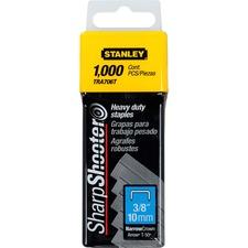 """Stanley Bostitch SharpShooter Heavy-Duty 3/8"""" Staples - 84 Per Strip - Heavy Duty - 3/4"""" Leg - 3/8"""" Crown - Steel Gray"""