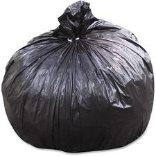 "SKILCRAFT Heavy-duty Recycled Trash Bag - 45 gal - 40"" Width x 48"" Length x 1.50 mil (38 Micron) Thickness - Black - Polyethylene, Resin - 100/Carton"