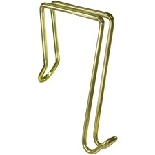 Artistic Single Hook Partition Coat Clips - 1 Hooks - for Garment - Brass - Brass - 1 Each