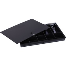 Sparco Locking Cover Money Tray - 1 x Cash Tray - 5 Bill/5 Coin Compartment(s) - Black
