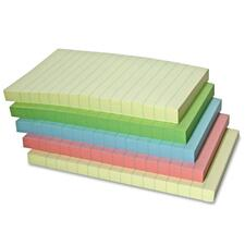 "Sparco Adhesive Note - Self-adhesive - 4"" x 6\"" - Pastel - Paper - 5 / Pack"