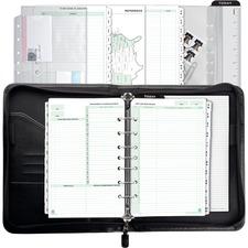 DTM 44531 Day-Timer Briefcase Style Zip Binder Starter Set DTM44531