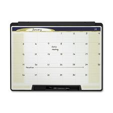 "Quartet Motion Cubicle Dry-Erase 1-month Calendar - Monthly - 24"" x 18"" - Wall Mountable - Lightweight, Stain Resistant"