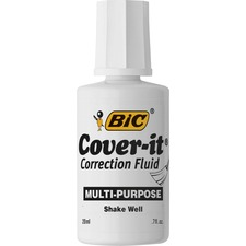BIC WOC12WE Bic Cover-it Multi-purpose Correction Fluid BICWOC12WE