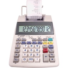 SHR EL1750V Sharp EL-1750V 12-digit Printing Calculator SHREL1750V