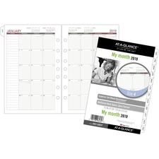 DRN 061685Y Day Runner Dated Monthly Planner Refill Pages DRN061685Y