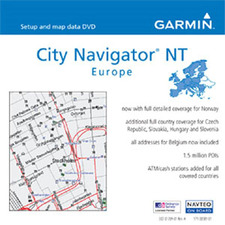Garmin City Navigator NT Europe v.9.0 Digital Map - Europe - Czech Republic, Slovakia, Hungary, Slovenia, Italy, Sweden, Norway, Netherland, Estonia, United Kingdom, Poland, France, Belgium, Luxembourg, Switzerland, Denmark, Latvia, Spain - Driving, Boati