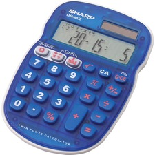 SHR ELS25BBL Sharp EL-S25B Handheld Math Quiz Calculator SHRELS25BBL