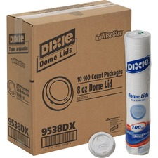 DXE 9538DXCT Dixie Foods Perfect Touch Cup Dome Lids DXE9538DXCT