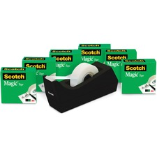 MMM 810K6C38 3M Scotch C38 Dispenser Magic Tape Value Pack MMM810K6C38