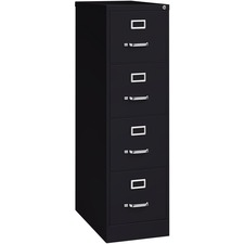LLR 60191 Lorell Commercial-grade Black Deep Vertical Files LLR60191