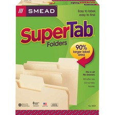 SMD10301 - Smead SuperTab 1/3 Tab Cut Letter Recycled Top Tab File Folder