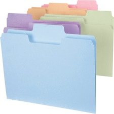 SMD 11961 Smead SuperTab Tab Assorted Colors File Folders SMD11961