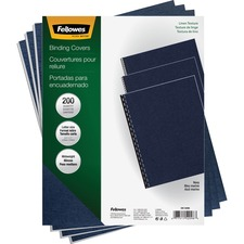FEL 52098 Fellowes Linen Unpunched Presentation Covers FEL52098