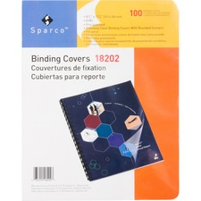 SPR 18202 Sparco Standard Clear Punched Presentation Covers SPR18202