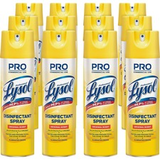Professional Lysol Original Disinfectant Spray - Aerosol - 19 fl oz (0.6 quart) - Original Scent - 12 / Carton