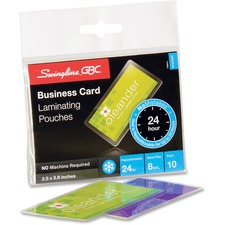 SWI 3747223 Swingline Business Card Laminating Pouches SWI3747223