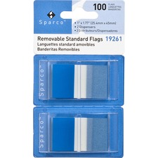 SPR 19261 Sparco Removable Standard Flags Dispenser SPR19261