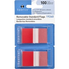 SPR 19260 Sparco Removable Standard Flags Dispenser SPR19260