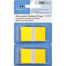 SPR 19259 Sparco Removable Standard Flags Dispenser SPR19259