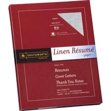 SOU RD18GCFLN Southworth 100% Cotton Linen Resume Paper SOURD18GCFLN