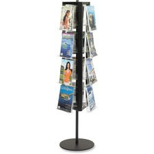 SAF 4113BL Safco In-View Rotary Literature Display SAF4113BL
