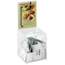 SAF 4235CL Safco Acrylic Collection Box SAF4235CL