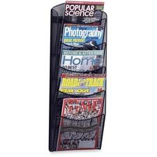 SAF 5578BL Safco 5-Pocket Onyx Mesh Literature Organizer SAF5578BL