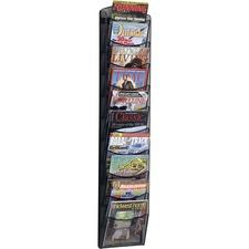 SAF 5579BL Safco 10-pocket Onyx Mesh Literature Rack SAF5579BL