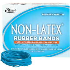 ALL 42339 Alliance Cyan Non-Ltx Antimicrobial Rubber Bands  ALL42339