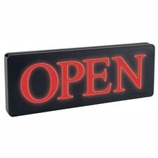 "Headline Lighted Open Sign - 1 / Each - Open Print/Message - 13.25"" (336.55 mm) Width x 6"" (152.40 mm) Height - Rectangular Shape - Red Print/Message Color - Black"