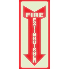USS 4793 U.S. Stamp & Sign Glow Fire Extinguisher Sign USS4793