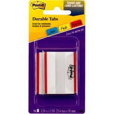 MMM 686F50RD 3M Post-it Extra Thick Durable Tabs MMM686F50RD