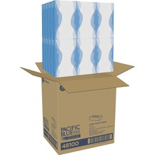 GPC 48100CT Georgia Pacific Preference Flat Box Facial Tissue GPC48100CT