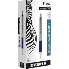ZEB 29220 Zebra F402 Retractable Ballpoint Pen ZEB29220