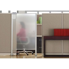 """Quartet® Workstation Privacy Screen, 38"""" x 64"""", Rolling, Full Length"""