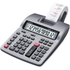 Casio HR150TM Printing Calculator - Dual Color Print - 2.4 lps - 12 Digits - LCD - Battery Powered - 1 Each