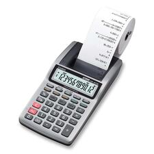 Casio HR8TM Large LCD Printing Calculator - Single Color Print - 1.6 lps - 12 Digits - LCD - AC Supply Powered - 1 Each