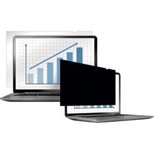 """Fellowes PrivaScreenâ""""¢ Blackout Privacy Filter - 15.4"""" Wide - For 15.4"""" Widescreen LCD Notebook, Monitor - 16:10 - Dust-free, Scratch Resistant - Black - TAA Compliant"""