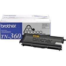 Brother TN360 Original Toner Cartridge - Laser - 2600 Pages - Black - 1 Each