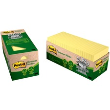 MMM 654R24CPCY 3M Post-it Greener Notes Recycled Cabinet Pack MMM654R24CPCY