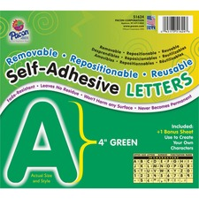 PAC 51624 Pacon Self-Adhesive Removable Letters PAC51624