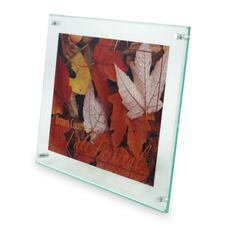 """Deflecto Superior Image Beveled Edge Wall Mount Sign Holder - 11"""" (279.40 mm) x 8.50"""" (215.90 mm) x - 1 Each - Green Tint"""
